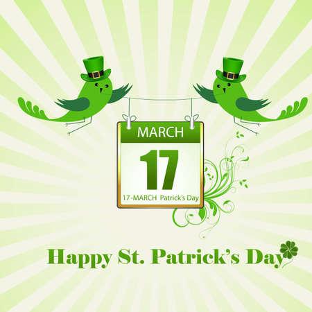 St  Patrick's Day Celebration Card Stock Vector - 12655004