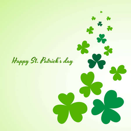 St  Patrick's Day Clover Leaves Background Stock Vector - 12654453