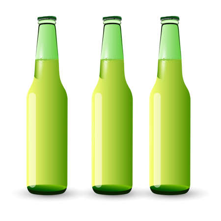 Set of Beer Bottles Vector
