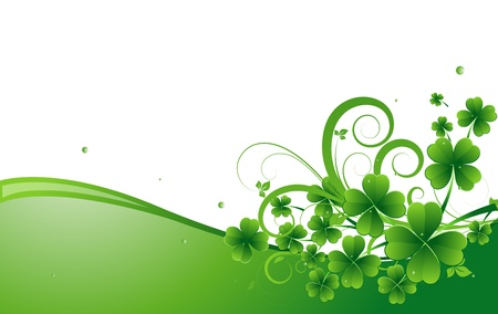 clover banner: Clover Leaves Holiday Background Illustration