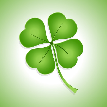 lucky clover: St  Patricks Day Shamrock Illustration