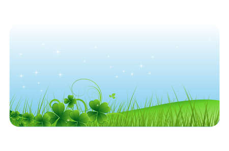 St  Patrick's Day Nature Banner Stock Vector - 12655020