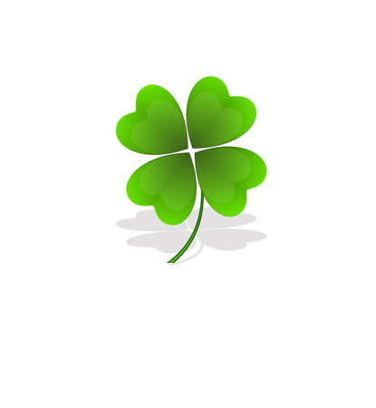 Shamrock on Green Background Stock Vector - 12654448