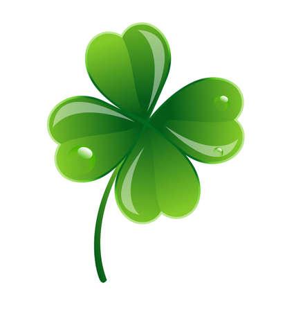 clover leaf shape: Glossy Clover Leaf
