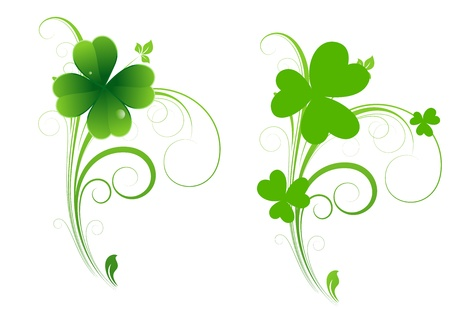 irish symbols: Clover Leaf Element