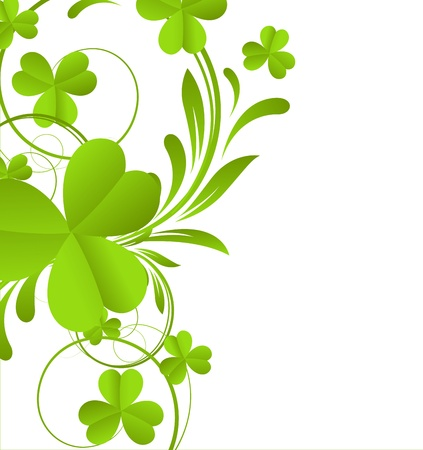 Swirl Shamrock Element Vector
