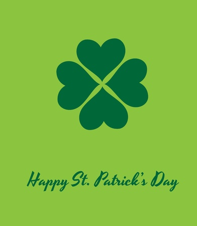 Shamrock Patricks Day Background Vector