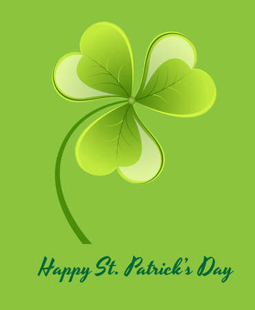 Green Glossy Shamrock Background Vector