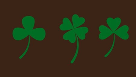 Set of Clover Leaves Vector