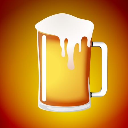 alehouse: Abstract Beer Glass Vector Illustration