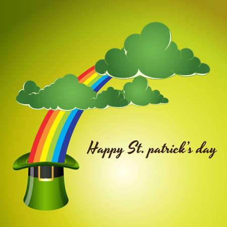 St  Patricks Day Background with Clouds Vector