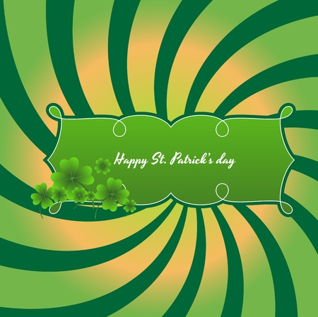 Vintage St  Patrick's Day Banner Stock Vector - 12654462