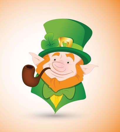 Happy Leprechaun Vector