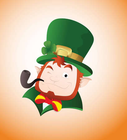 Expressive Leprechaun Stock Vector - 12654993