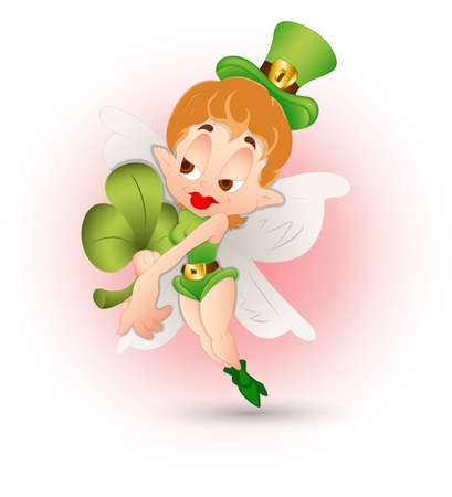 Cute St  Patricks Day Girl Vector