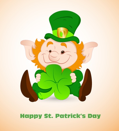 Cute Leprechaun Illustration Vector