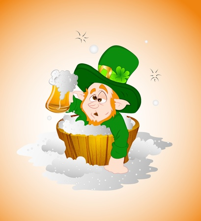 Drunken Leprechaun Illustration