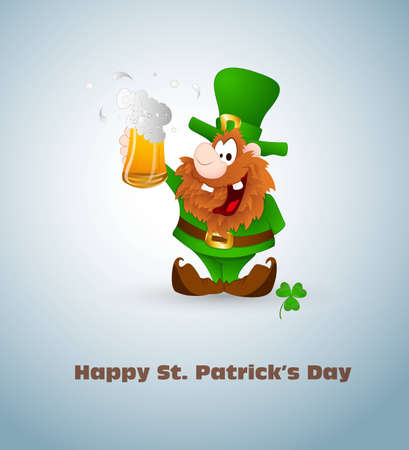 Leprechaun with Beer Stock Vector - 12654979