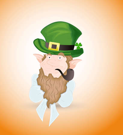 Thinking Leprechaun Vector