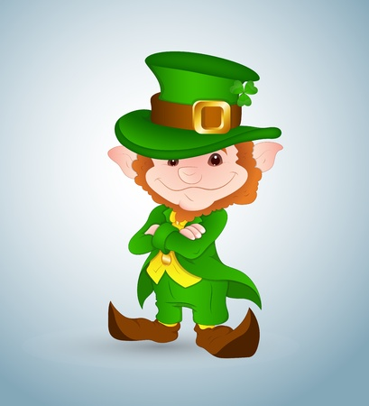leprechaun hat: Smiling Leprechaun Illustration