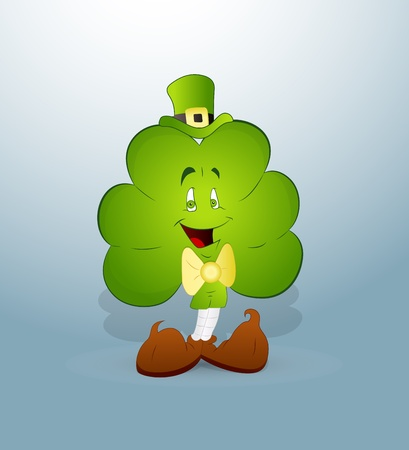 leprechaun hat: Cartoon Clover Leaf