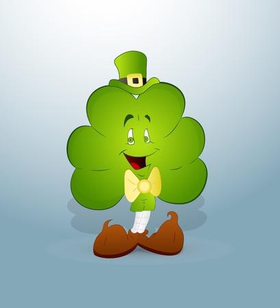 Cartoon Clover Leaf Stock Vector - 12654974