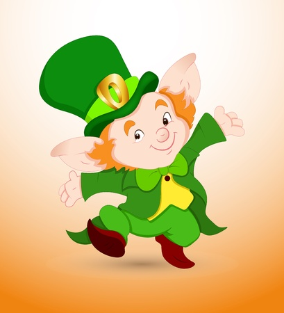 Dancing Baby Leprechaun Stock Vector - 12654975