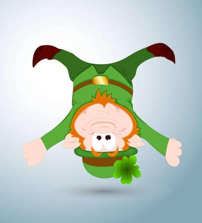 hang up: Funny Leprechaun Illustration