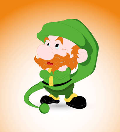Kid Leprechaun Vector