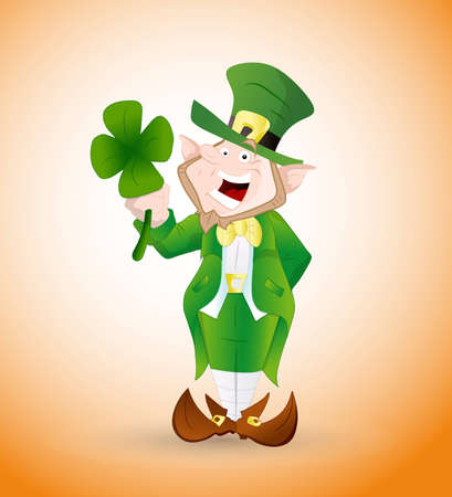Adult Leprechaun Illustration Vector