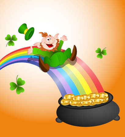 Sliding Leprechaun Vector