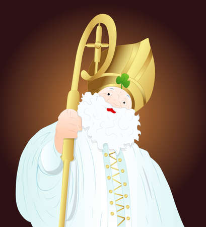 Saint Patrick King Vector