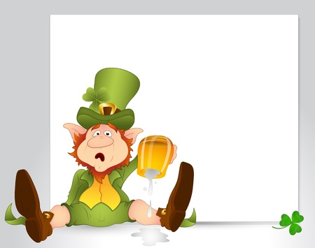 Surprised Leprechaun Vector