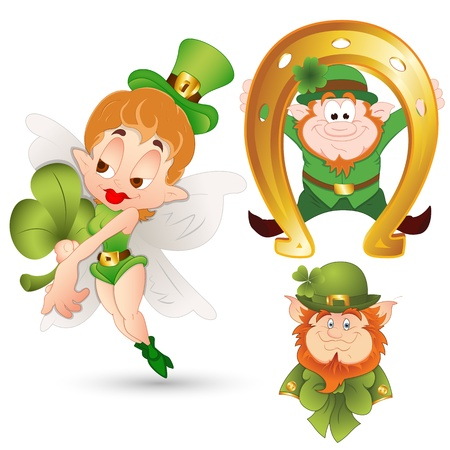 Cartoon Leprechaun Illustration Vector