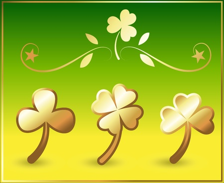 Art of Clover Leaves Stock Vector - 12654742