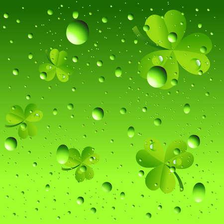shamrock background: Bubbles on Shamrock Background Illustration