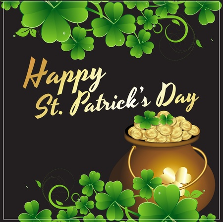 st patricks day: Gold Cauldron Patrick's Background