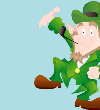 leprechaun background: Dancing Leprechaun Background