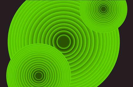 Retro Circle Background Vector