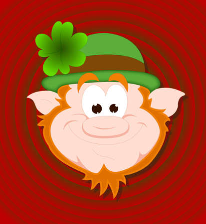 Funny Leprechaun Face Vector