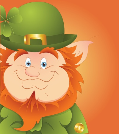 Leprechaun Smile Vector