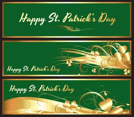 Patrick's Day Shamrock Banner Stock Vector - 12654576