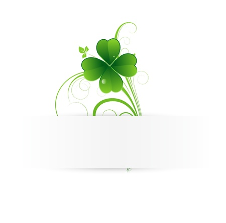 clover banners: Shamrock Banner Illustration