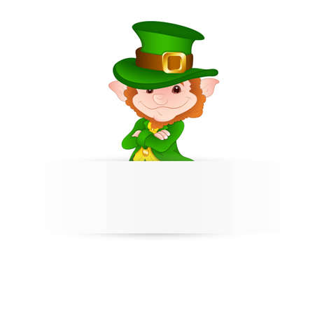 Abstract Leprechaun Banner Vector