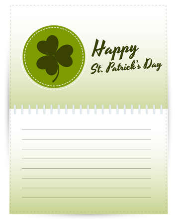 St  Patrick's Day Template Stock Vector - 12654688