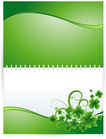 Shamrock Background Design Stock Vector - 12654692