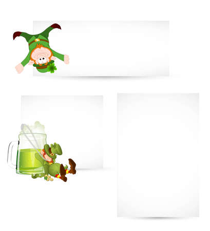 Set of Patricks Day Banners Vector