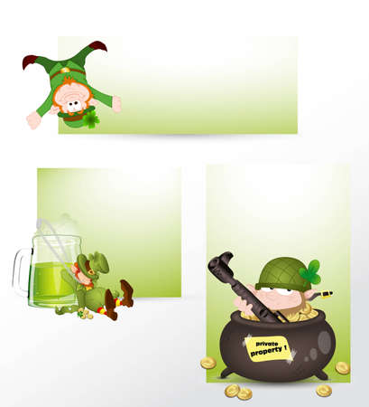 Patricks Day Concept Banners Vector