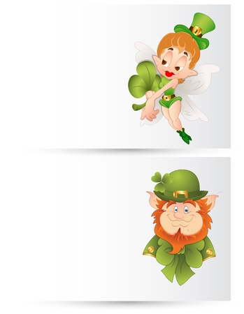 Abstract Leprechaun Banners Vector
