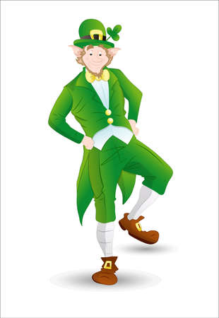 Leprechaun Profile Vector